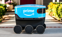Amazon debuts its autonomous robot courier